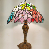 MULTICOLOURED-TIFFANY-STANDING-LAMPSHADE