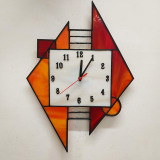 red-triangles-wall-clock-stained-glass
