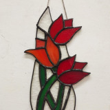 red-tulip-glass-wallhanging