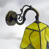 yellow heart-tiffany-wall-lamp