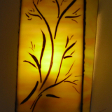 wall-fitted-light-stained-glass-with=hand-painting