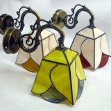 wall-lightfitting-yellow-red-black-stained-glass