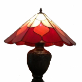red-orange-table-stained-glass-lamp