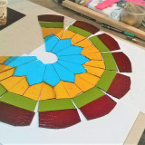 stained -glass-lamp-red-yellow-in-progress