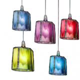 סדרת מנורות תלויות - משושה צבעוני