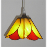 light-fixture-hanging-red-orange