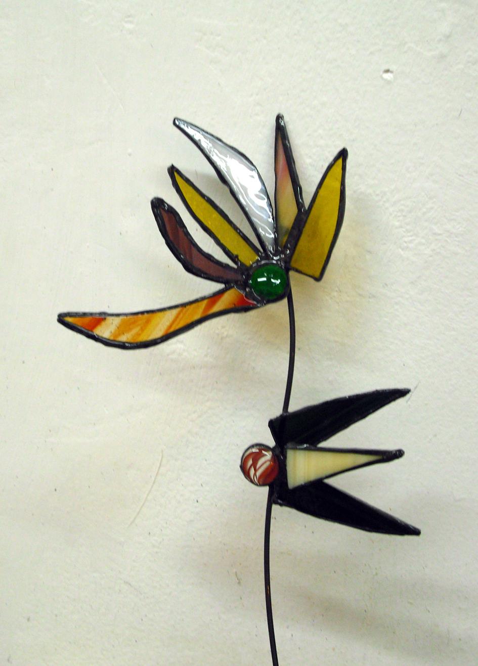 פרח זכוכית בסדנה חד פעמית