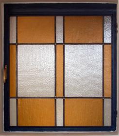 חלונות מעוצבים, עיצוב גיאומטרי של חלון ויטראז בטכניקת העופרת הקלאסית