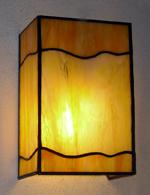 מנורת קיר ויטראז עם גל כתום