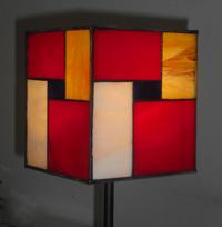 מנורות שולחן - מנורת ויטראז בהשראת מונדריאן