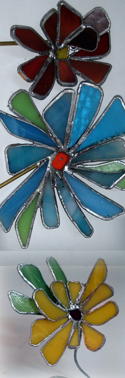 פרחי ויטראז מזכוכית - סדנה חד פעמית
