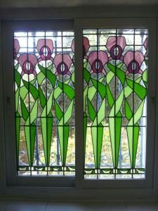 חלון ויטראז בזכוכית צבעונית