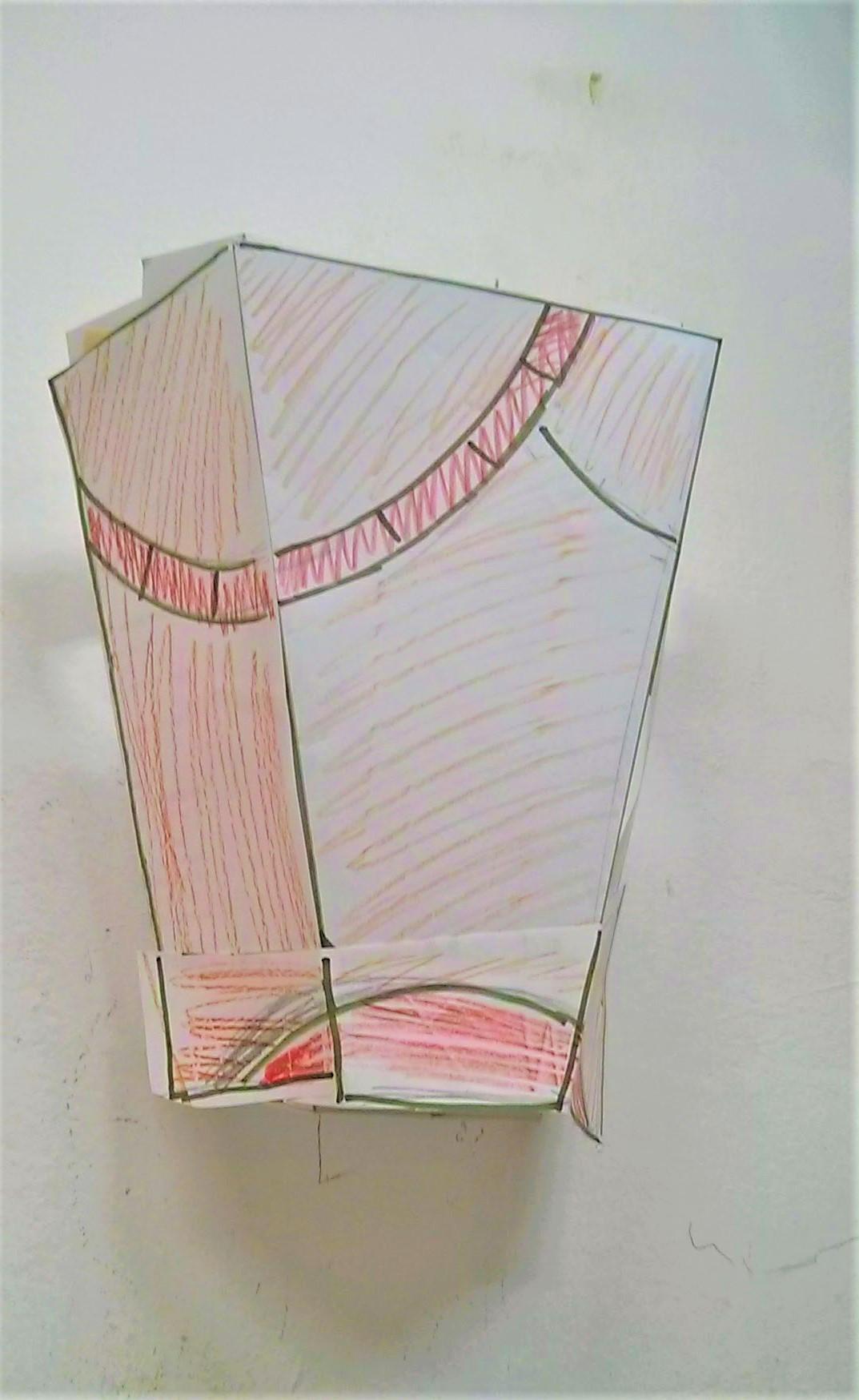 מודל למנורת קיר טיפאני עיגול גאומטרי
