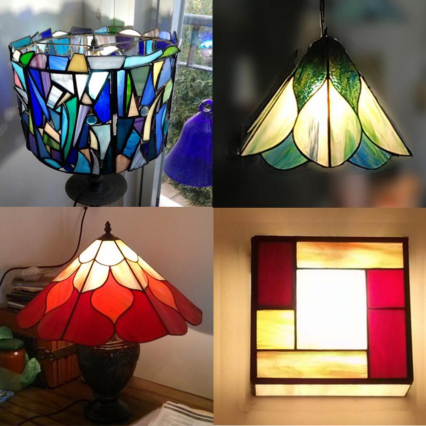 מנורות ויטראז מנורת קיר ויטראז, מנורת שולחן טיפאני, מנורה תלוייה