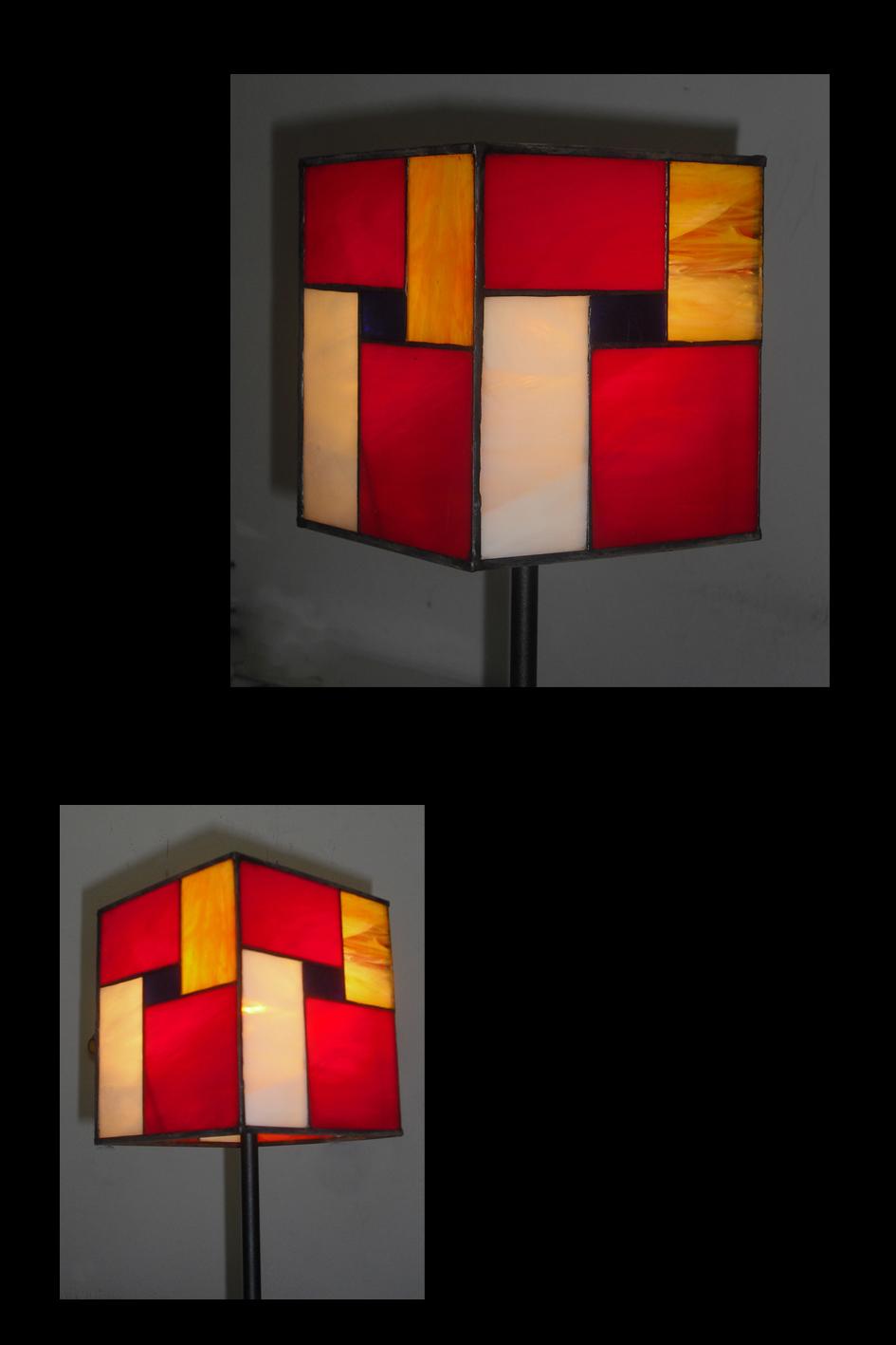 מנורת ויטראז על רגל ישרה, דגם מונדריאן טיפאני מונדריאן