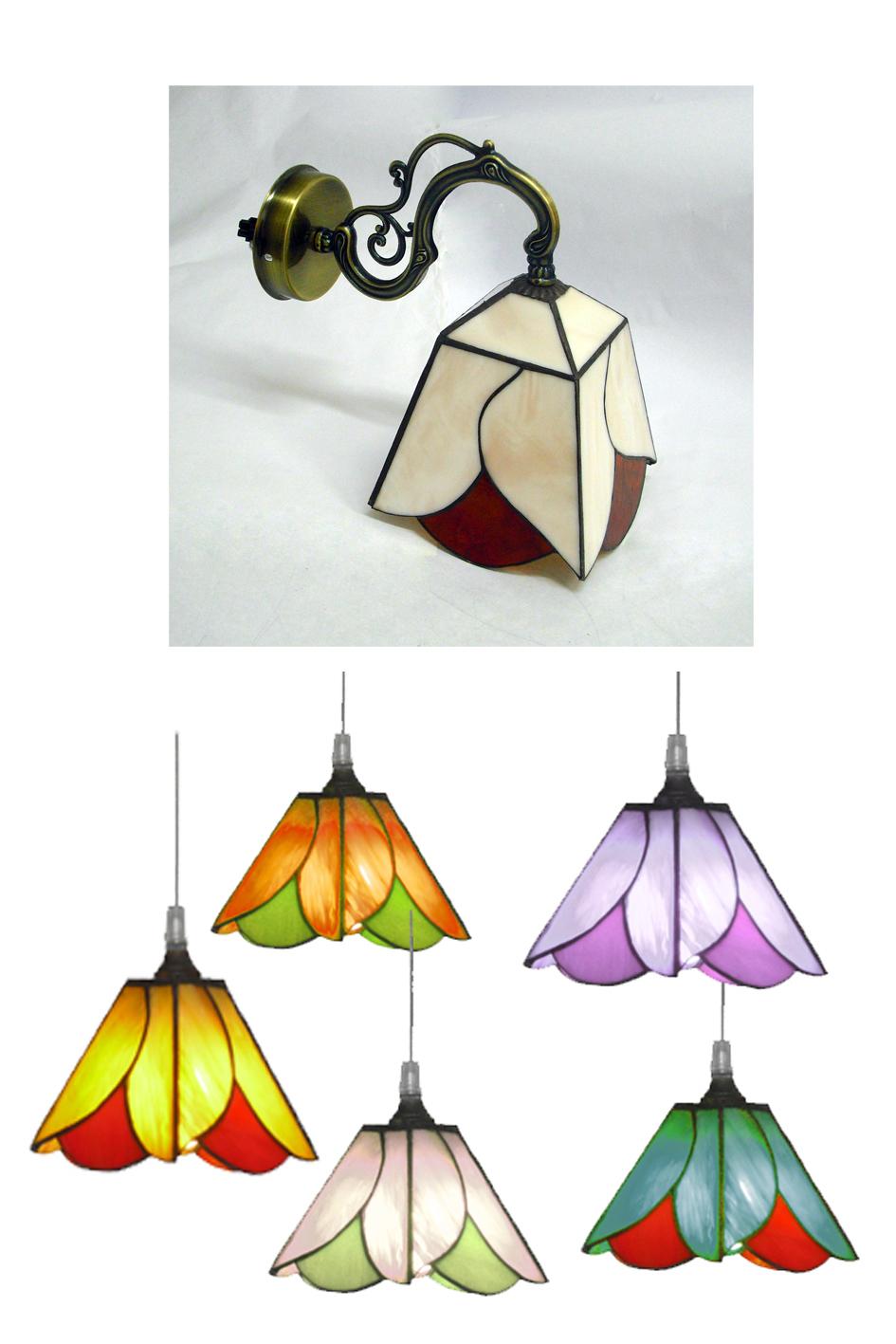 מנורות ויטראז מנורות טיפאני בצבעים שונים מתאים למנורת תלייה או מנורת קיר