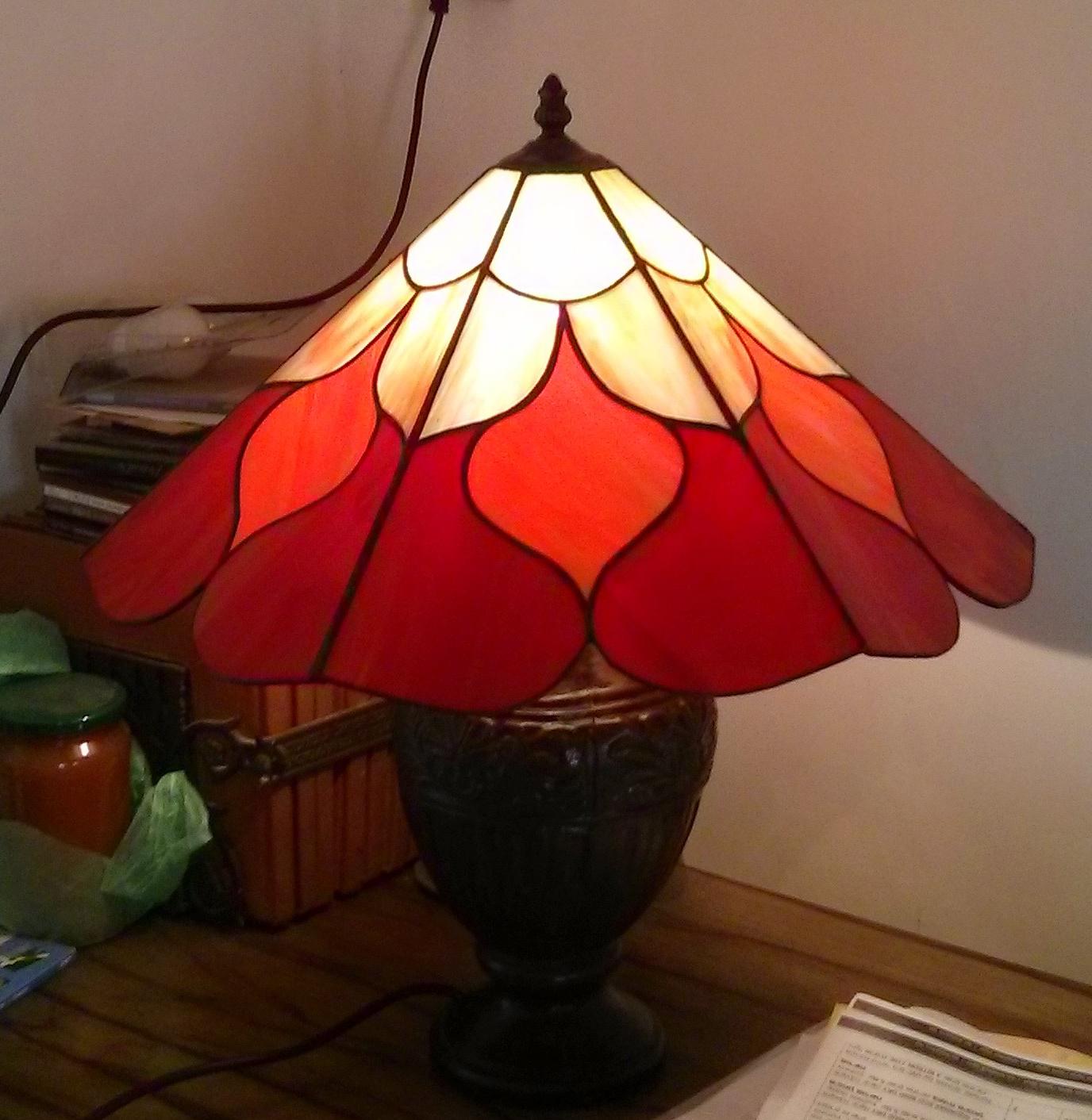 מנורת שולחן מנורת ויטראז טיפאני על רגל