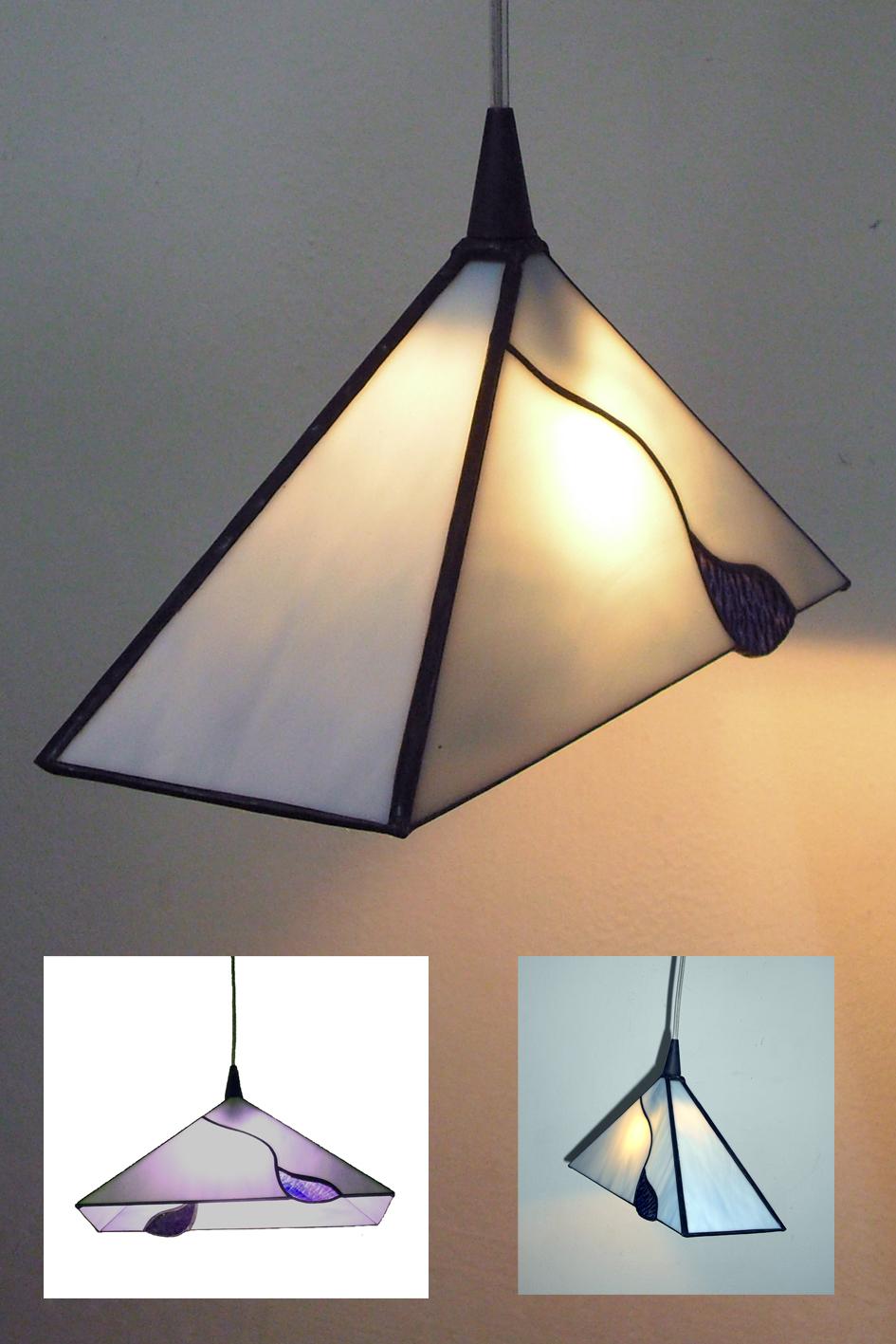 מנורת ויטראז מנורת טיפאני משולש מנורה לנישה