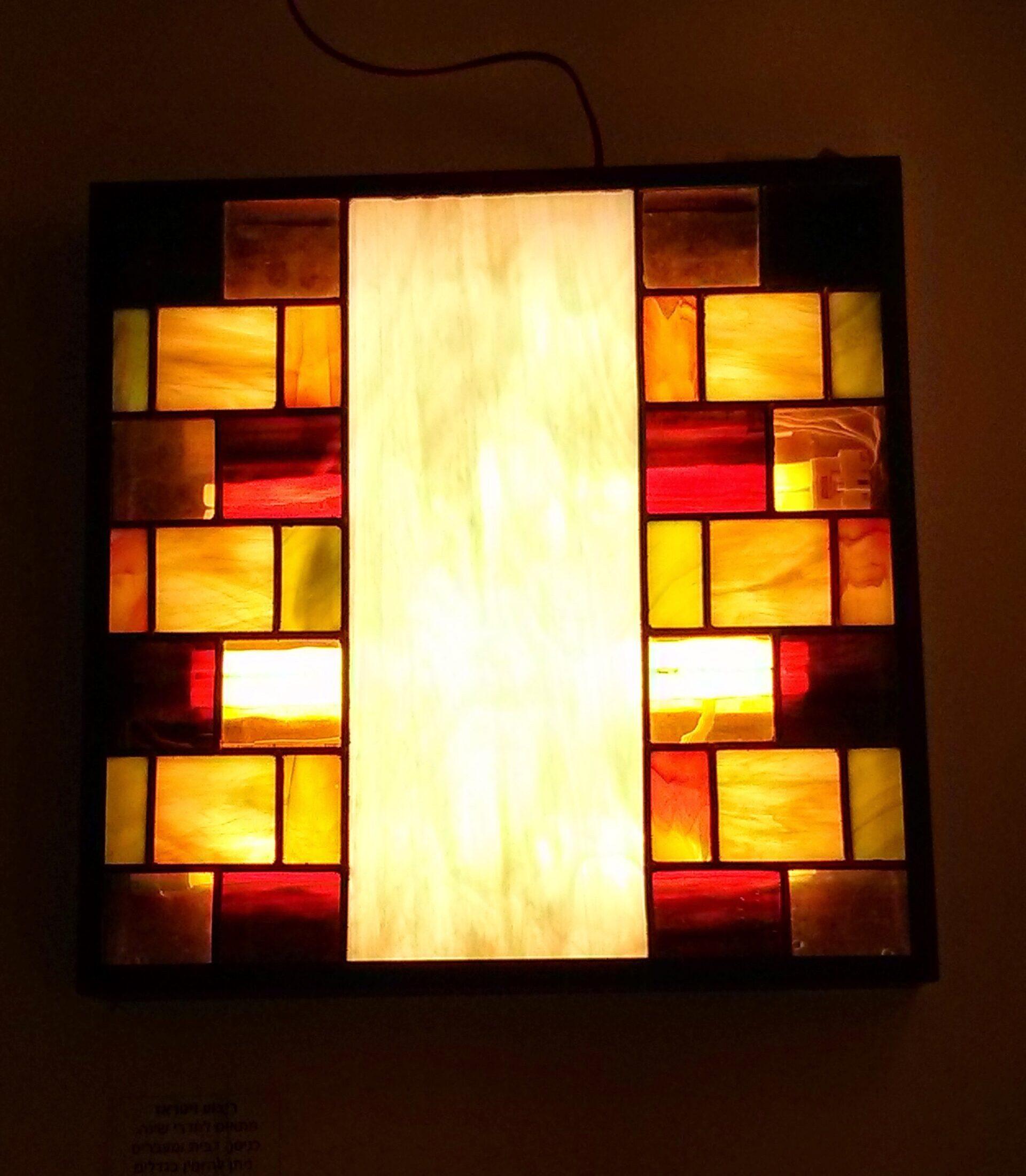 מנורת טיפאני ויטראז לקיר